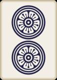 麻雀の二筒