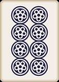 麻雀の八筒