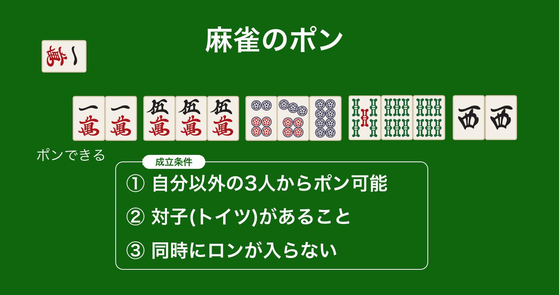 麻雀のポンとは?やり方手順・漢字・チーやロンとの優先順位やメリットも