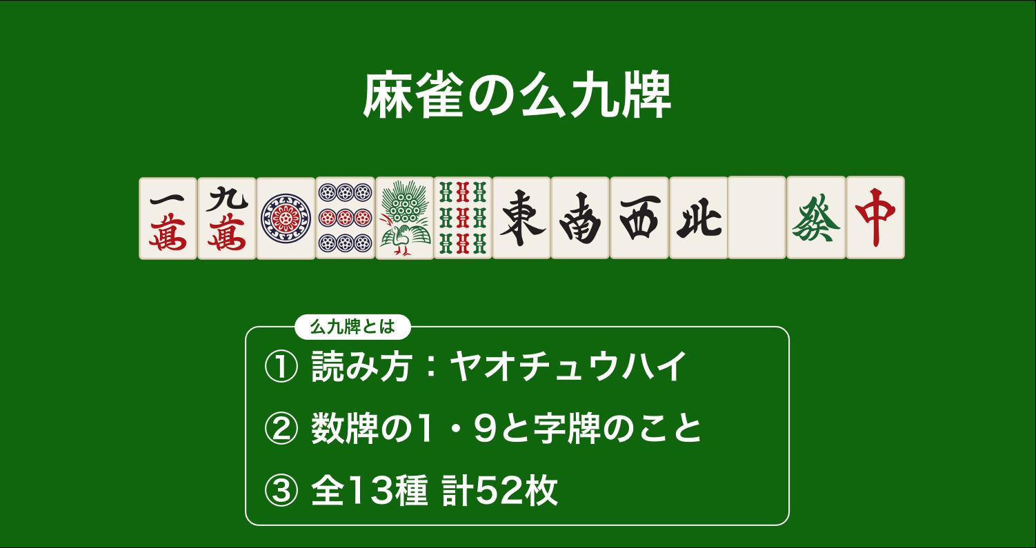 麻雀の么九牌(ヤオチュウハイ)
