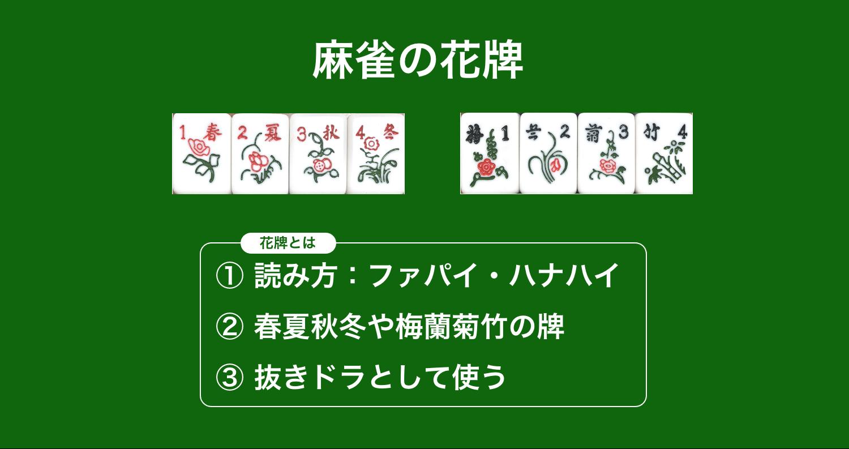 麻雀の花牌