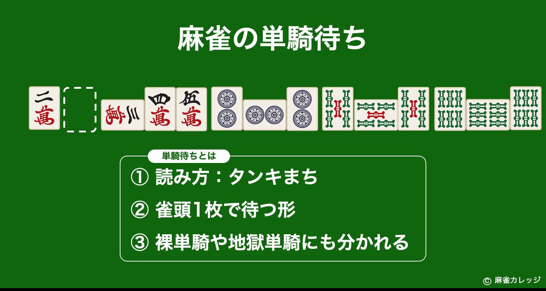 麻雀の単騎待ち(タンキまち)
